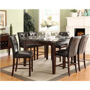 Homelegance Decatur 7 Piece Counter Height Set