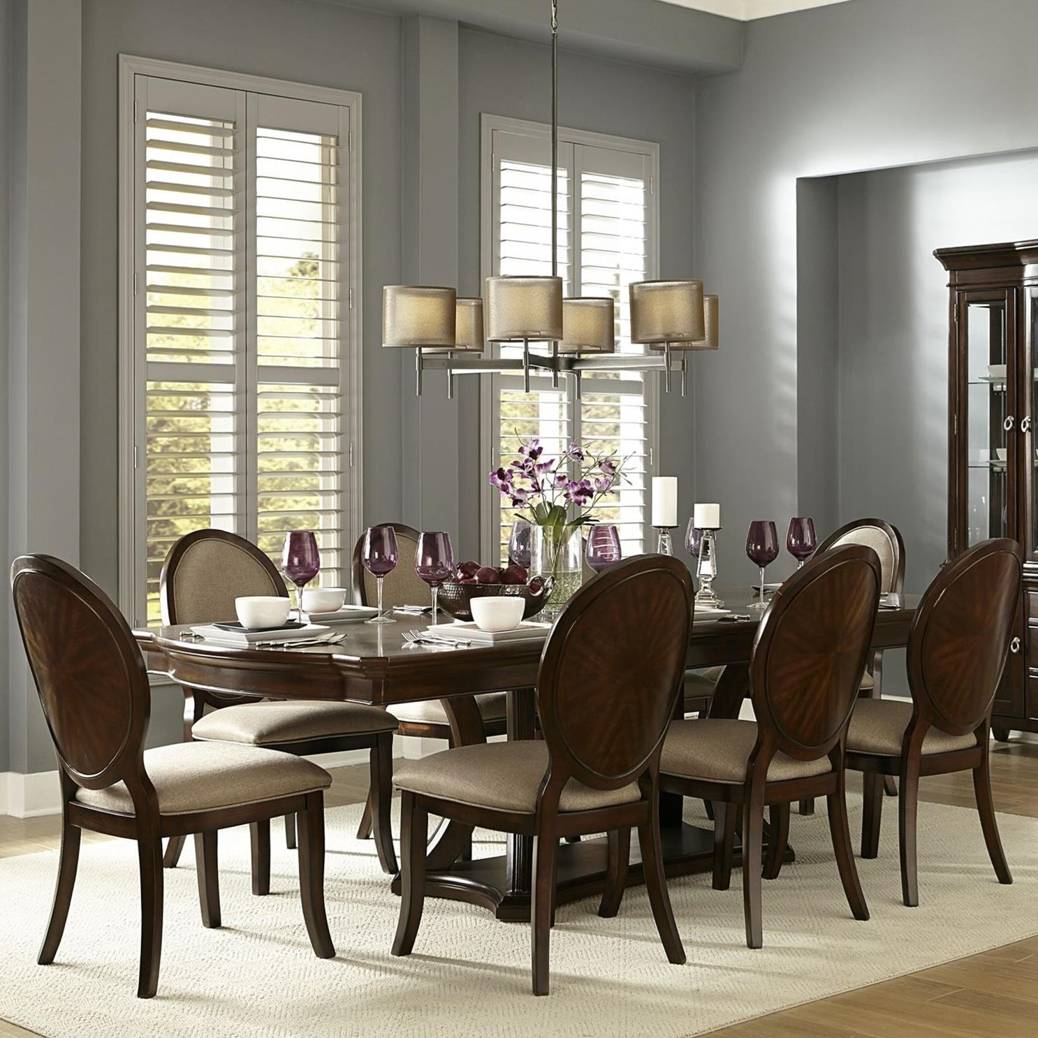 Transitional Dining Room Table: Homelegance Delavan Transitional Dining Table And Chair