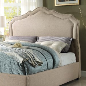 Homelegance Delphine Transitional Queen Upholstered Headboard