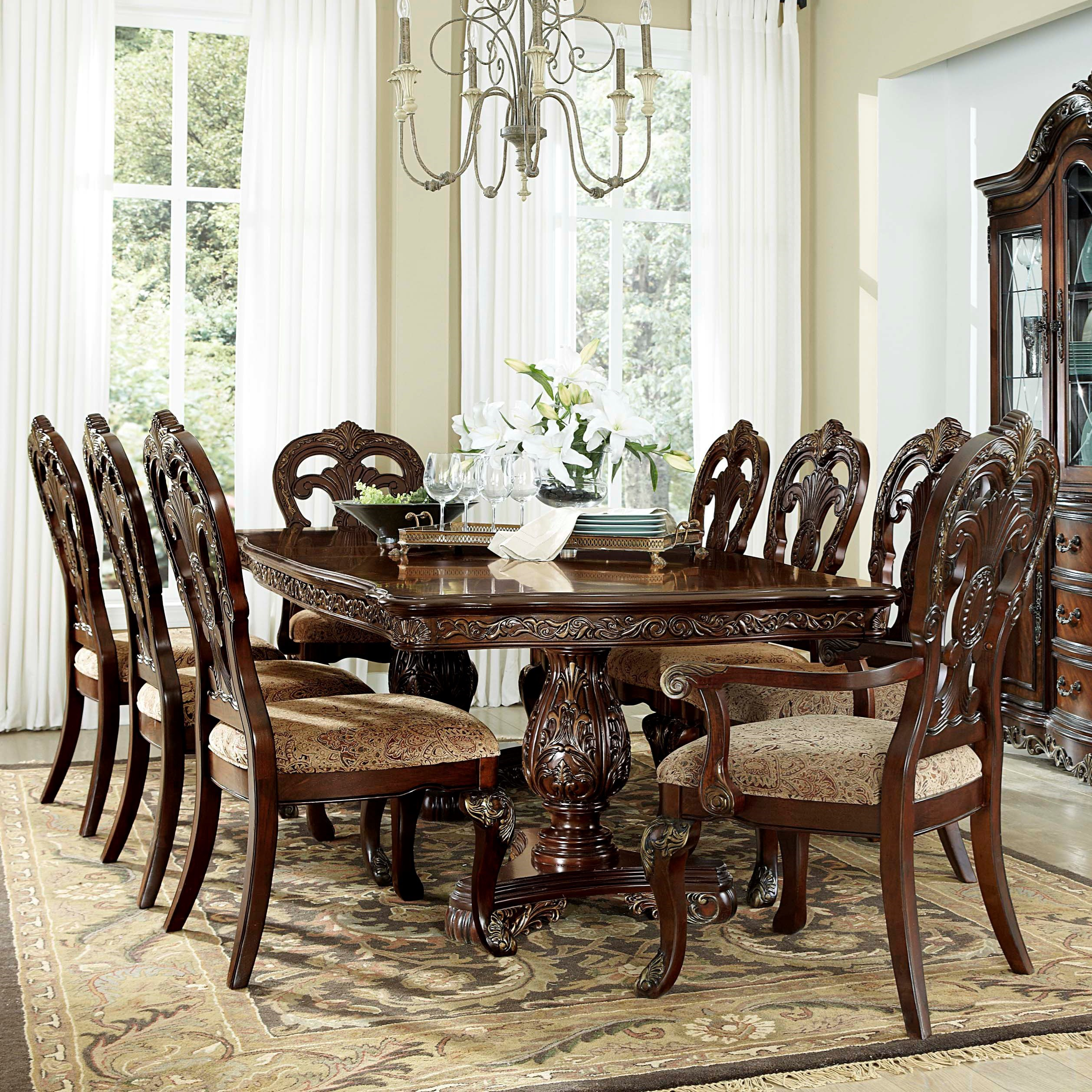 Homelegance Deryn Park Traditional Dining Table And Chair Set With Elegant Detailing Wayside