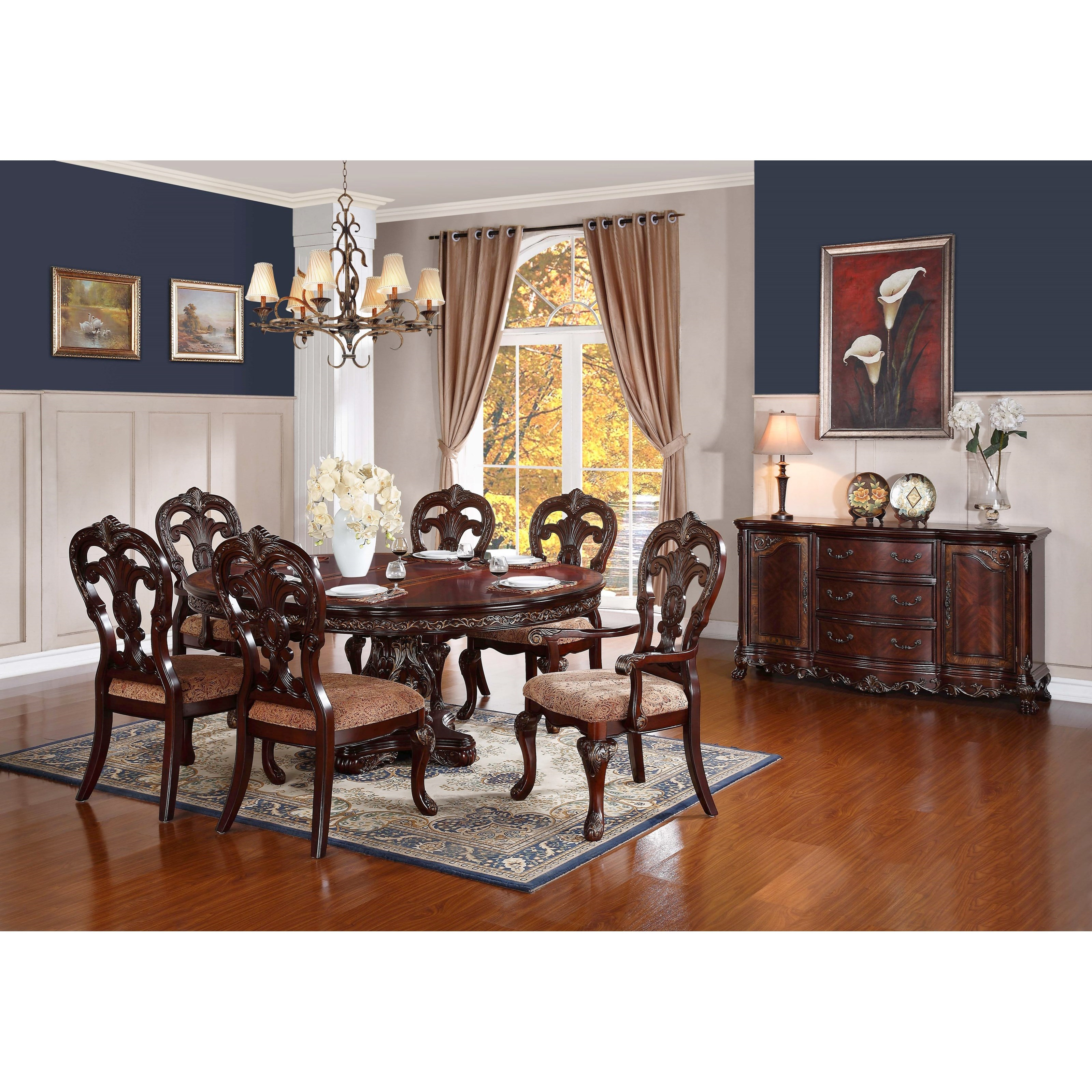 Homelegance Deryn Park Traditional Round Dining Table With