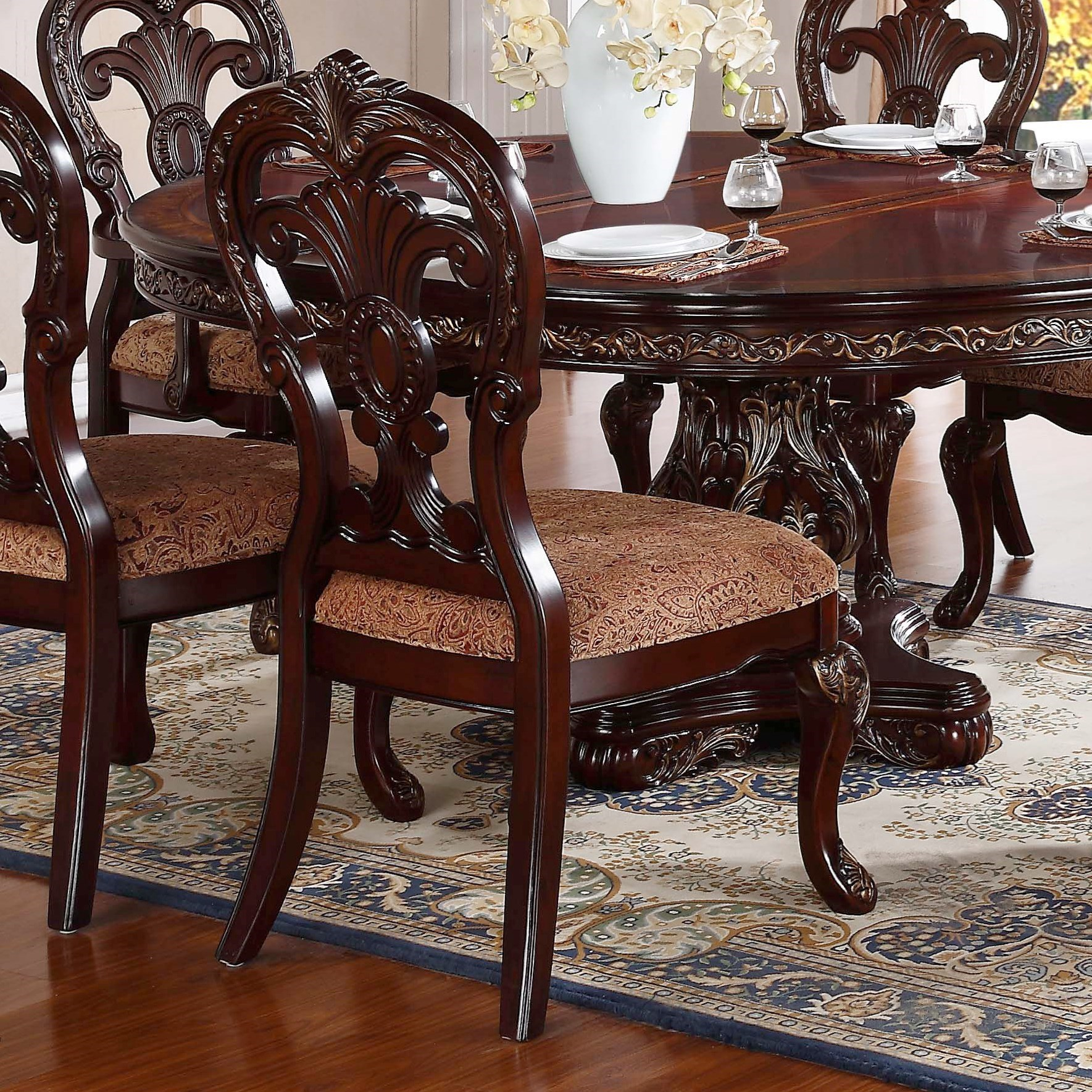 Side Chairs For Dining Room: Homelegance Deryn Park Traditional Dining Side Chair With