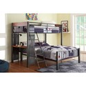 Homelegance Division Twin Over Full Loft Bed w/ Desk - Item Number: B2008TF-1+2