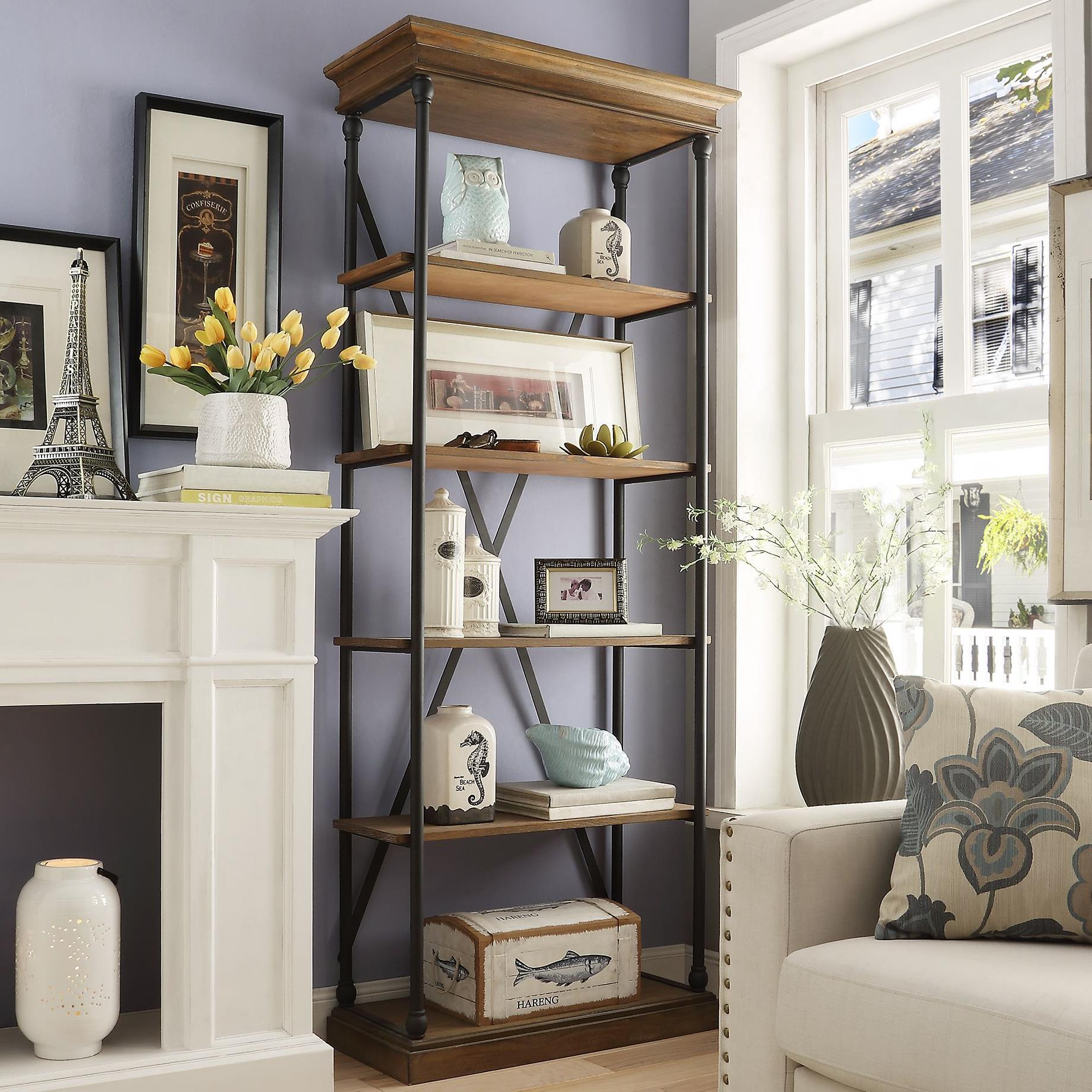 Homelegance E296 Open Bookcase - Item Number: E296-12S
