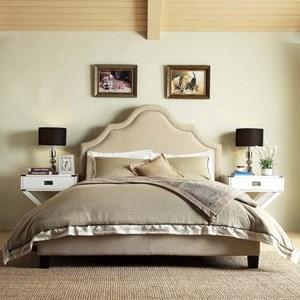 Homelegance E377 Beige Queen Upholstered Bed