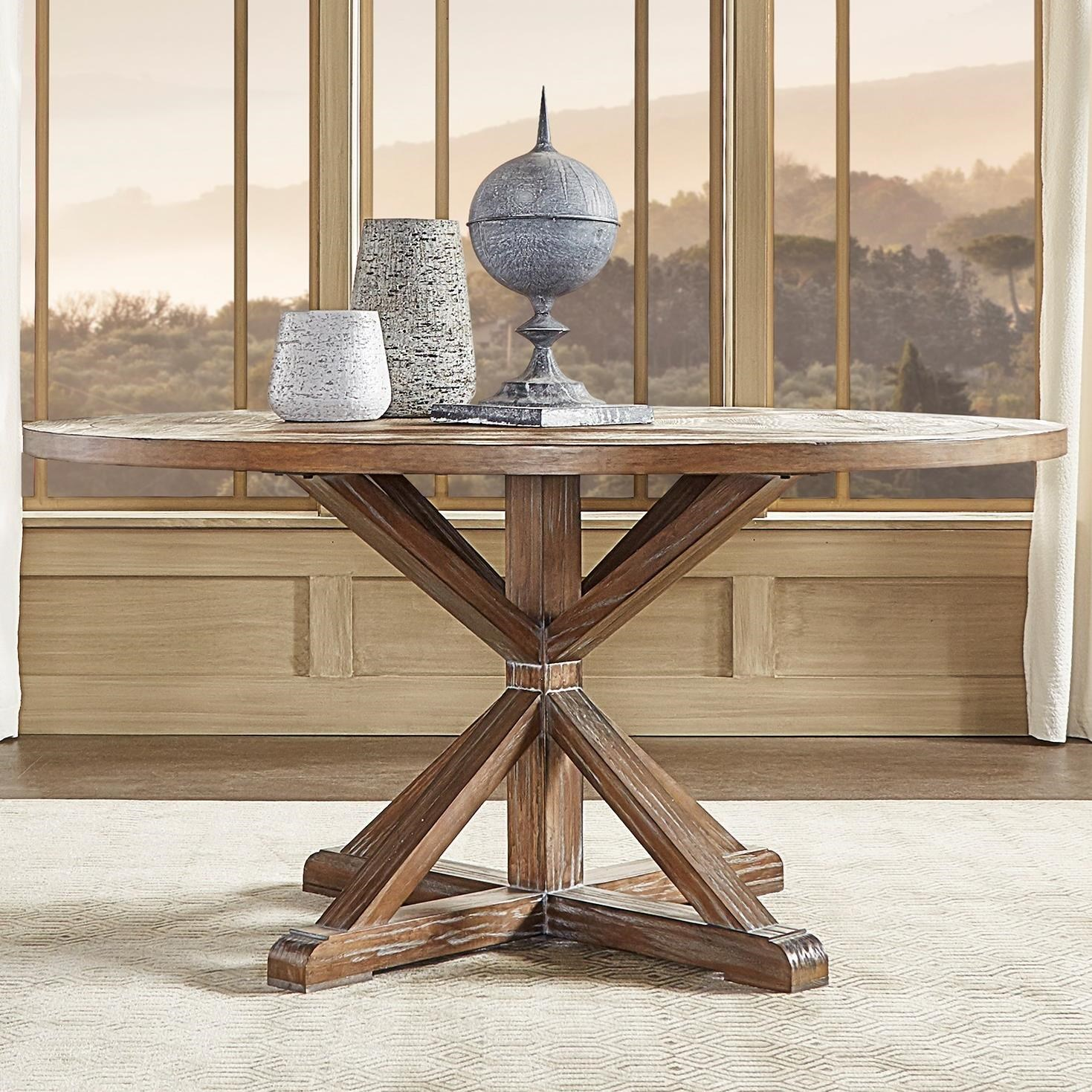Picture of: Homelegance E431 Farmhouse Style Reclaimed Wood 60 Round Dining Table A1 Furniture Mattress Dining Tables