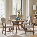 Homelegance Edam 5 Piece Chair & Table Set - Item Number: 5492-52+4xS