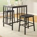 Homelegance Edgar 3-Piece Table & Chair Set - Item Number: 5106BK