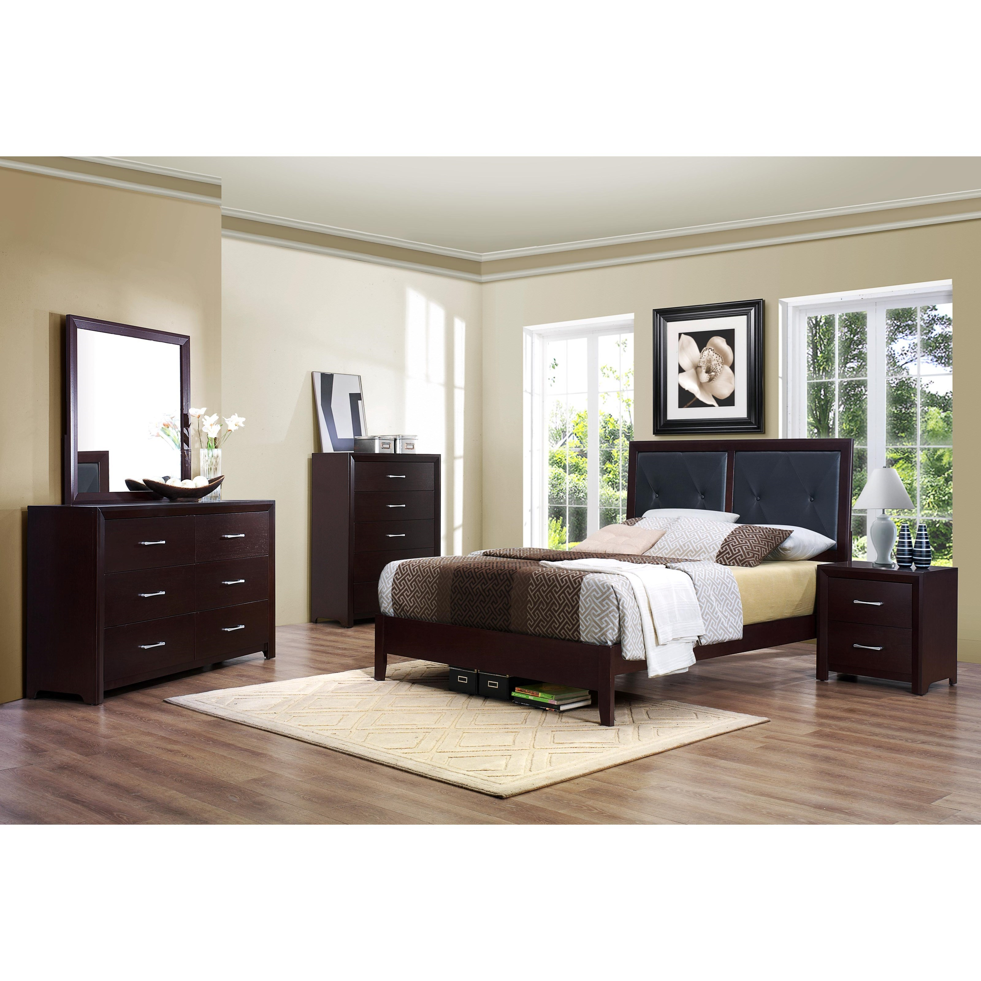 Homelegance Edina Queen Bedroom Group without Chest - Item Number: 2145 Q Bedroom Group 2