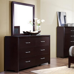 Homelegance Edina Dresser and Mirror