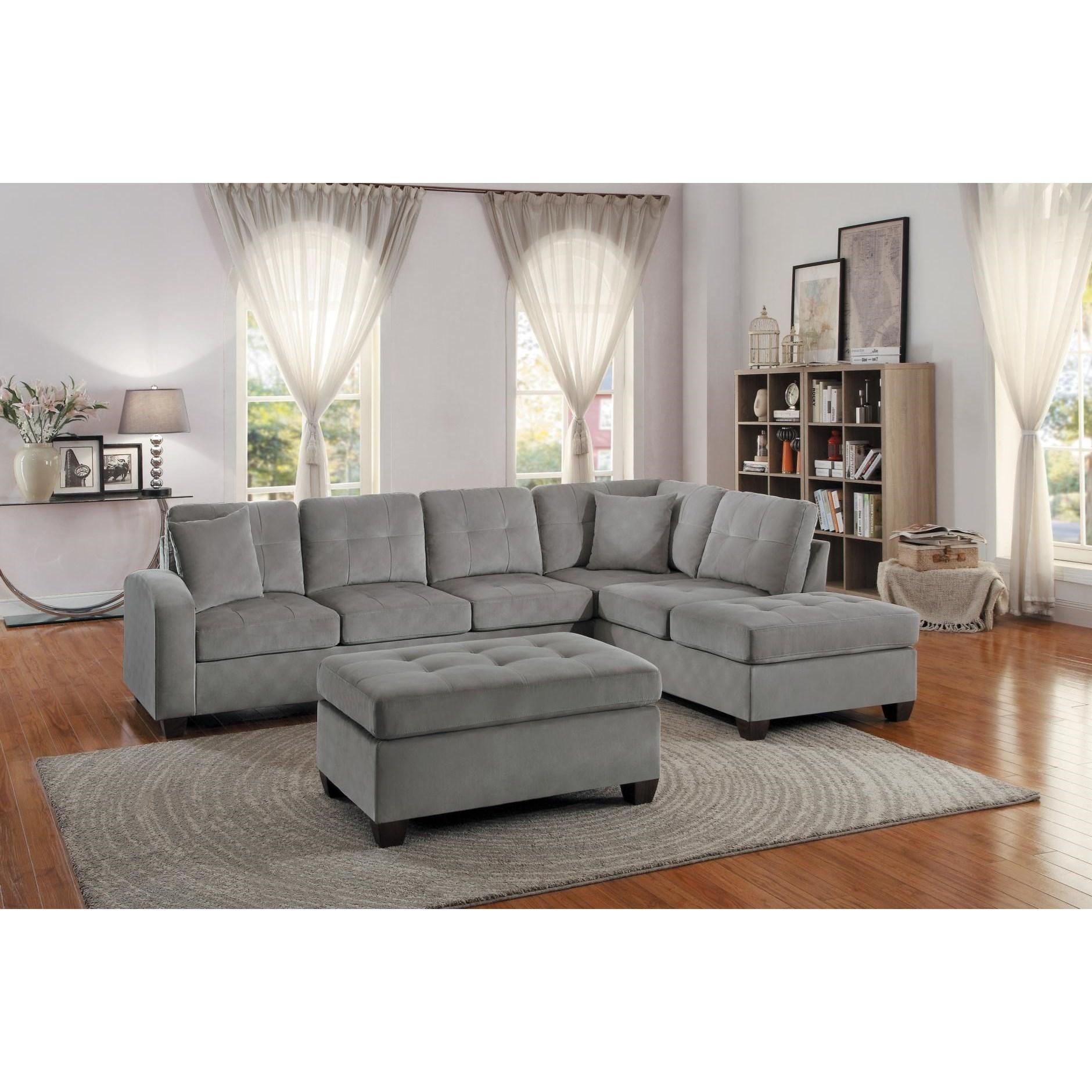 homelegance emilio stationary living room group  value