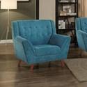Homelegance Erath Upholstered Chair - Item Number: 8244BU-1