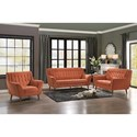 Homelegance Erath Stationary Living Room Group - Item Number: 8244RN Living Room Group