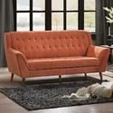 Homelegance Erath Upholstered Sofa - Item Number: 8244RN-3