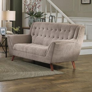 Homelegance Erath Upholstered Loveseat