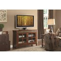 Homelegance Falls TV Stand with Slate Insert and Glass Doors