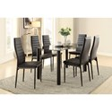 Homelegance Florian Seven Piece Dining Set - Item Number: 5538BK+G+6xS
