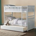 Homelegance Galen Full Over Full Bunk Bed with Trundle - Item Number: B2053FFW-1+2+SL+R