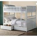 Homelegance Galen Full Over Full Bunk Bed with Storage - Item Number: B2053FFW-1+2+SL+T