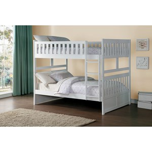 Homelegance Galen Full Over Full Bunk Bed