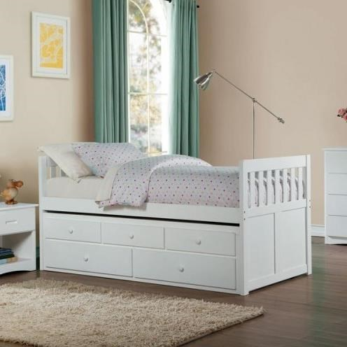 Homelegance Galen Twin Captains Bed With Trundle And Storage