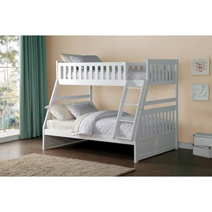 Homelegance Galen Twin Over Full Bunk Bed