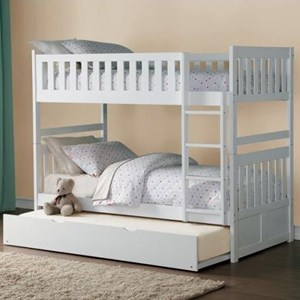 Homelegance Galen Twin Over Twin Bunk Bed with Trundle