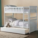 Homelegance Galen Twin Over Twin Bunk Bed with Trundle - Item Number: B2053W-1+2+SL+R