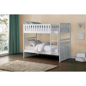 Homelegance Galen Twin Over Twin Bunk Bed