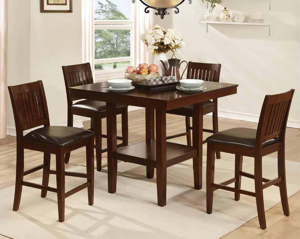 Homelegance Galena 5050 5 Piece Counter Height Table & Chair Set - Item Number: 5050-36