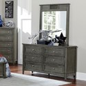Homelegance Garcia Dresser and Mirror Combo - Item Number: 2046-5+6