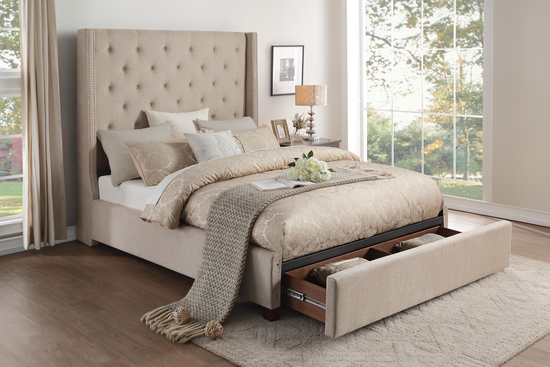 King Upholstered Storage Bed