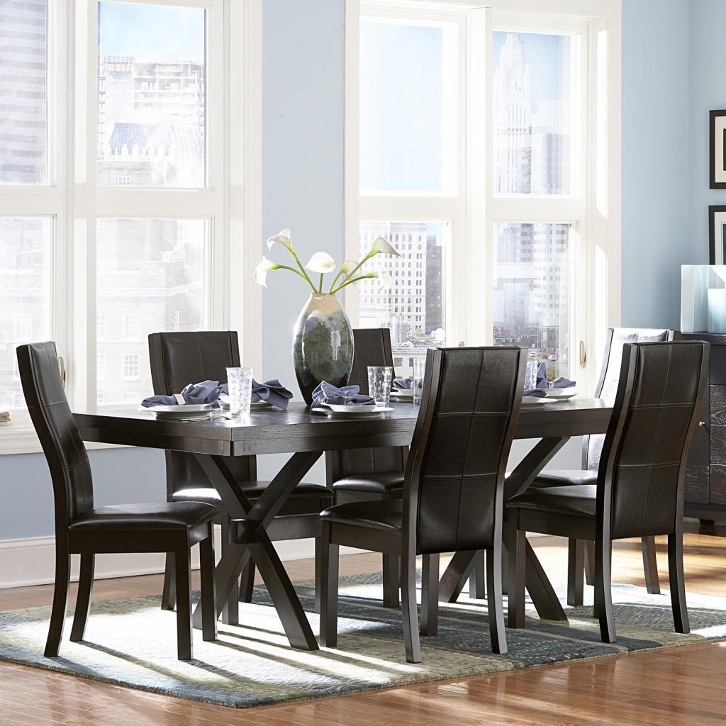Homelegance Sherman 7 Piece Dining Set - Item Number: 5375-78T+B+6xS