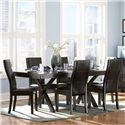 Homelegance Sherman 7 Piece Dining Set - Item Number: 5375-78T+B+6xS