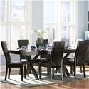 Homelegance Sherman Rectangular Dining Table with Trestle - Shown with Dining Side Chairs