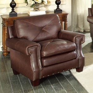 Homelegance Greermont Traditional Leather Arm Chair