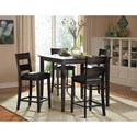 Homelegance Griffin 5Pc Counter Height Table and Chair Set - Item Number: 2425-36
