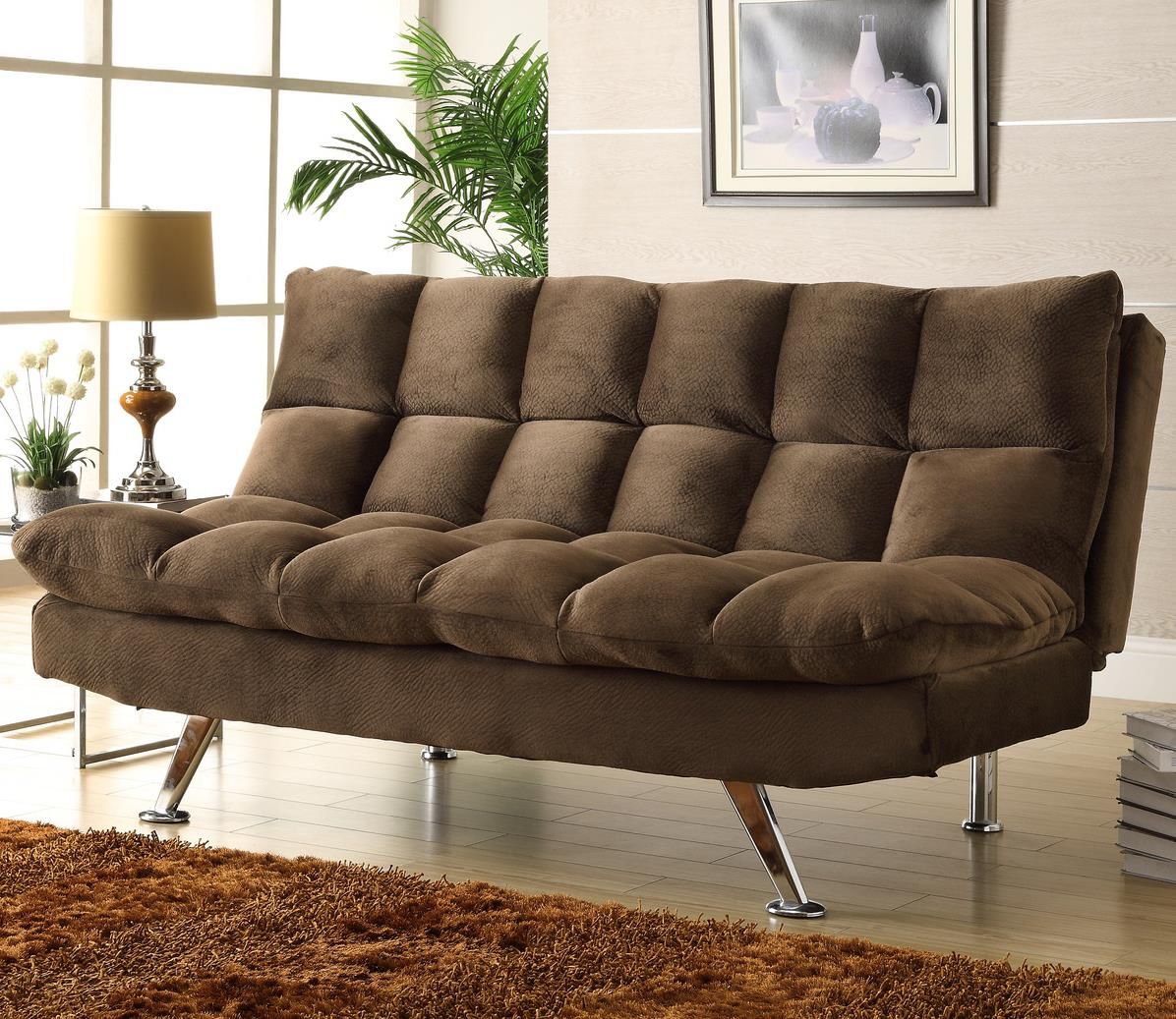 Homelegance Jazz Chocolate Microfiber Lounger - Item Number: 4809CH