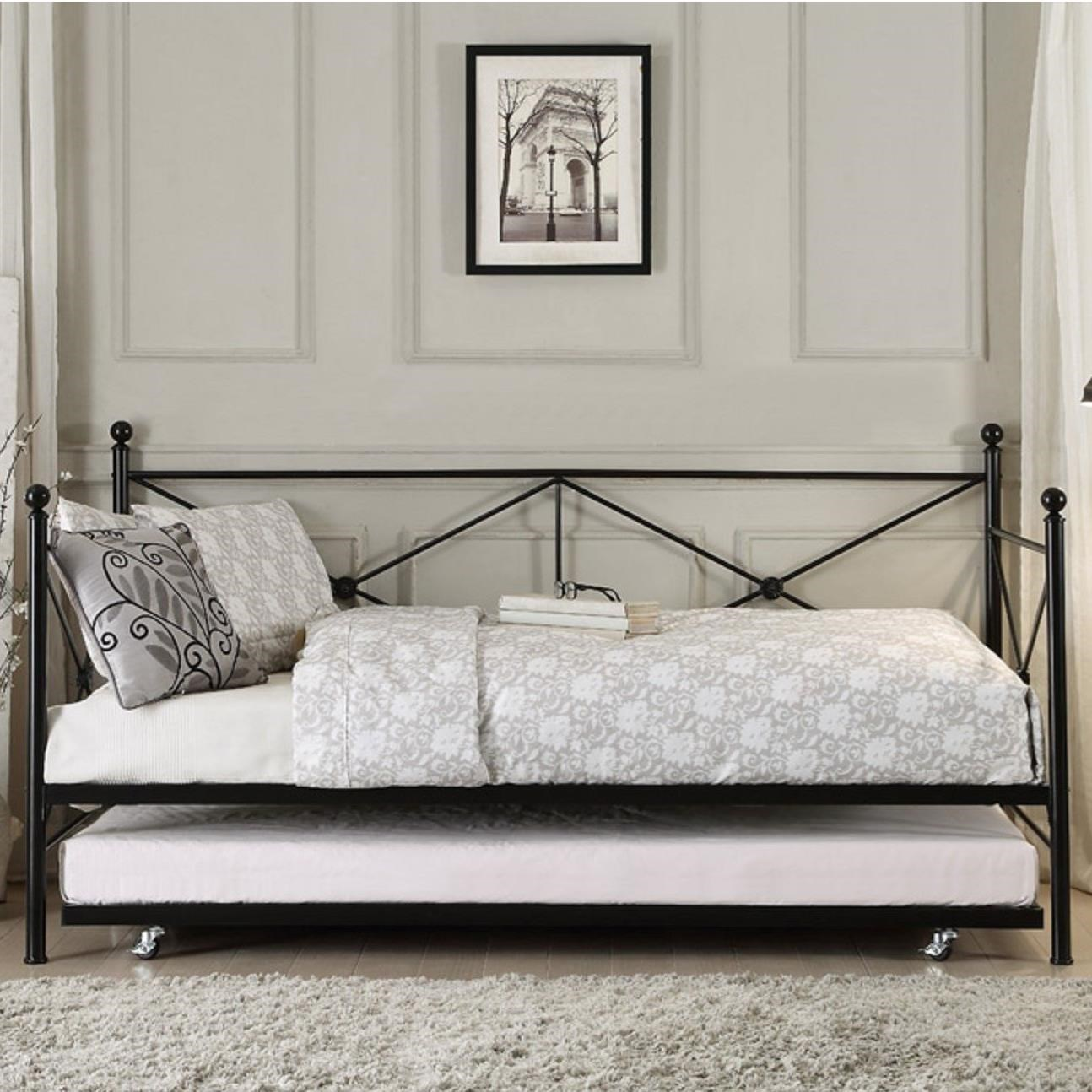 metal daybed. Brilliant Metal Homelegance Jones Metal Daybed  Item Number 4964BKNT For N
