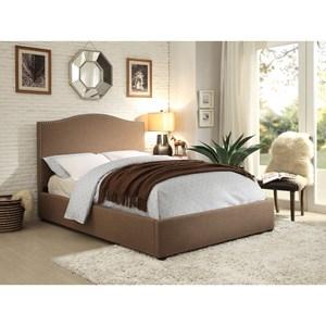 Homelegance Kase Transitional Upholstered Cal King Bed