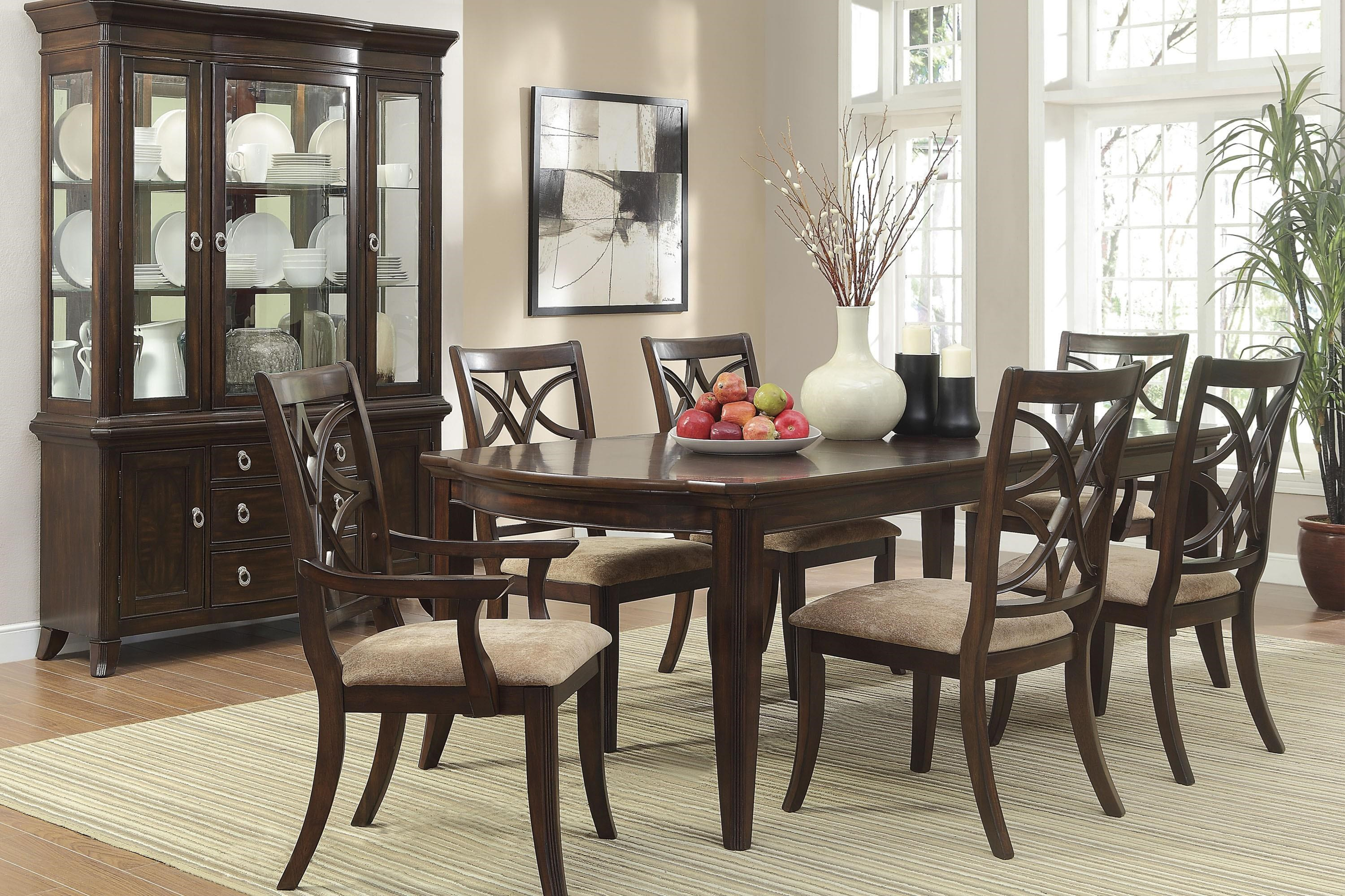 Picture of: Homelegance Keegan Espresso 2546 96 2a 4s Contemporary 7 Piece Dining Set Beck S Furniture Dining 7 Or More Piece Sets
