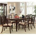 Homelegance Keegan 7 Piece Dining Set - Item Number: 2546-96+2xA+4xS