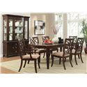 Homelegance Keegan 7 Piece Dining Set with Rectangular Table