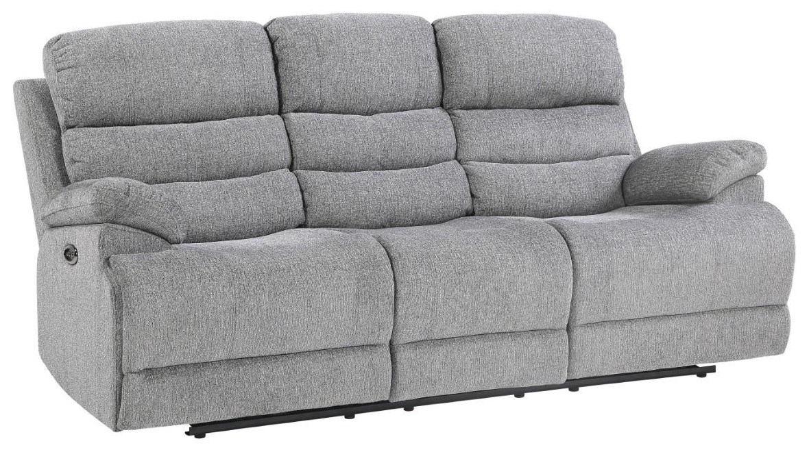 Kelso Power Reclining Sofa w/ Power Headrest by Home Style at Walker's Furniture