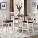 Homelegance Kiwi Five Piece Chair & Pub Table Set - Item Number: 5162WW-36+4x24