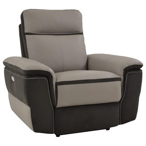 Homelegance Laertes Contemporary Power Recliner