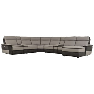 Homelegance Laertes Contemporary Power Reclining Sectional
