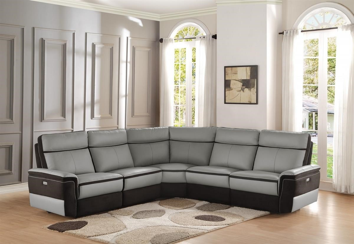 Homelegance Laertes Power Reclining Sectional - Item Number 8318-AC+CR+LRPW & Homelegance Laertes Power Reclining Sectional - Boulevard Home ... islam-shia.org