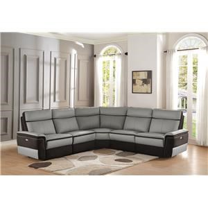 Homelegance Laertes Power Reclining Sectional