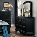 Homelegance Laurelin Dresser and Mirror Combination - Item Number: 1714BK-5+6